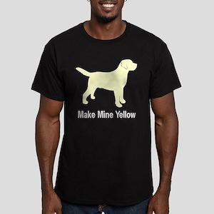 Make Mine Yellow Lab Men's Fitted T-Shirt (dark)