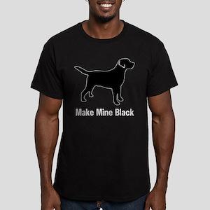 Make Mine Black Men's Fitted T-Shirt (dark)