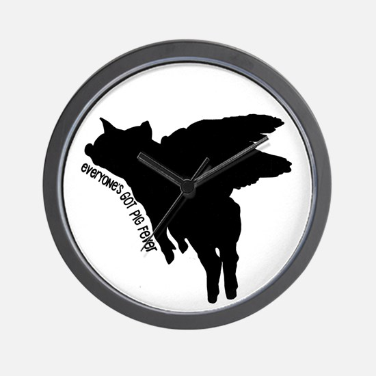 Pig Fever Wall Clock