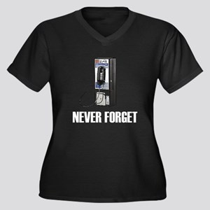 Never Forget Pay Phones Women's Plus Size V-Neck D
