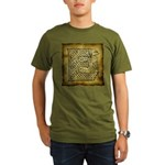 Celtic Letter E Organic Men's T-Shirt (dark)
