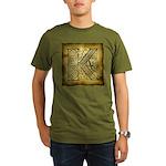 Celtic Letter K Organic Men's T-Shirt (dark)