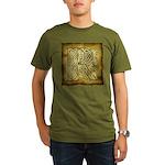 Celtic Letter R Organic Men's T-Shirt (dark)