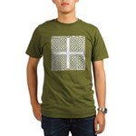 Celtic Square Cross Organic Men's T-Shirt (dark)