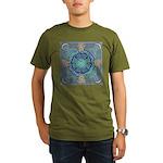Celtic Eye of the World Organic Men's T-Shirt (dar