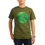 Celtic Triskele Organic Men's T-Shirt (dark)