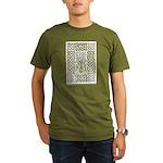 Celtic Knot Bare Bran Organic Men's T-Shirt (dark)