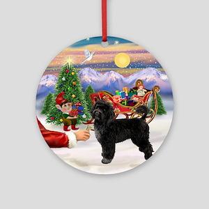 Santa's Treat for his PWD Ornament (Round)