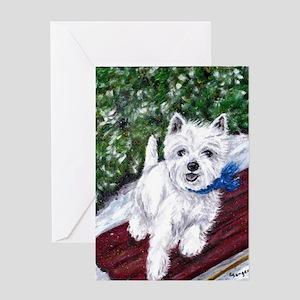 Westie Wonderland Greeting Card