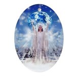 Winter Angel Oval Ornament