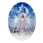 Winter Angel Oval Ornament