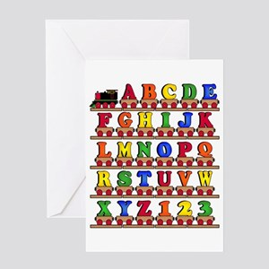 ABC Train Greeting Card