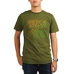 Abstract Arabic Organic Men's T-Shirt (dark)
