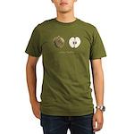 Going Halfsies Apples Organic Men's T-Shirt (dark)