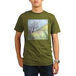 California Tree Watercolor Organic Men's T-Shirt (