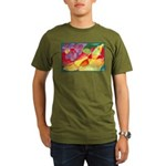 Fruit Watercolor Organic Men's T-Shirt (dark)
