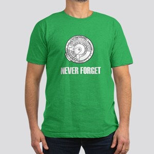 Never Forget Slide Rules 1 Men's Fitted T-Shirt (d