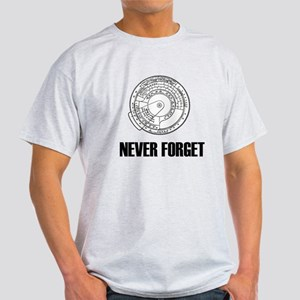 Never Forget Slide Rules 1 Light T-Shirt