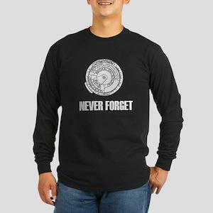 Never Forget Slide Rules 1 Long Sleeve Dark T-Shir
