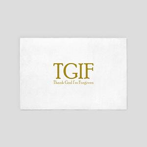 TGIF Thank God Im Forgiven Christian R 4' x 6' Rug