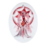 'Angel of Blessings' Oval Ornament