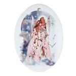 'Guardian Angel' Oval Ornament
