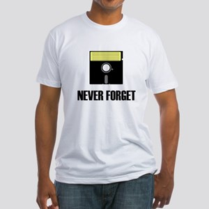 Never Forget Floppy Disks Fitted T-Shirt