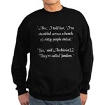 'Crazy Fandom' Sweatshirt (dark)