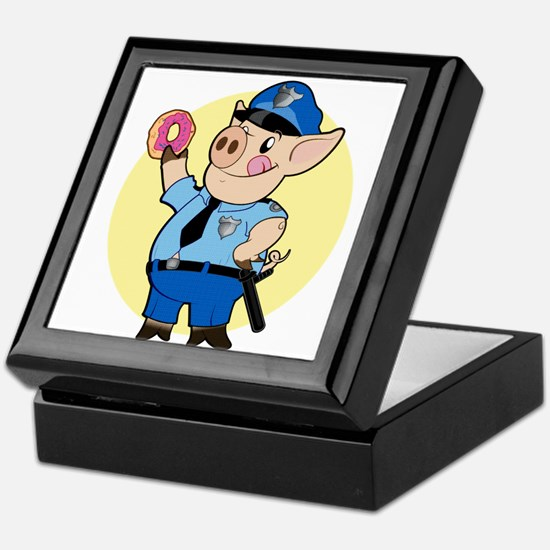 Cop Chops Keepsake Box
