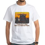 Littering kicks Buttes White T-Shirt
