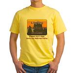 Littering kicks Buttes Yellow T-Shirt