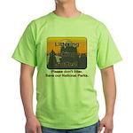 Littering kicks Buttes Green T-Shirt