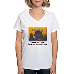 Littering kicks Buttes Women's V-Neck T-Shirt