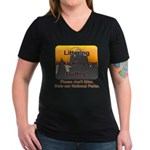 Littering kicks Buttes Women's V-Neck Dark T-Shirt