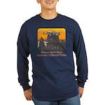 Littering kicks Buttes Long Sleeve Dark T-Shirt
