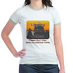Littering kicks Buttes Jr. Ringer T-Shirt