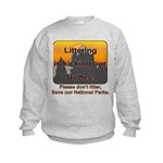 Littering kicks Buttes Kids Sweatshirt