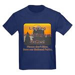 Littering kicks Buttes Kids Dark T-Shirt