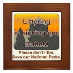 Littering kicks Buttes Framed Tile
