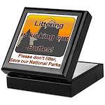 Littering kicks Buttes Keepsake Box