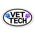 Vet Tech Oval Sticker