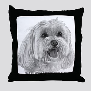 Sadie, Maltese Throw Pillow