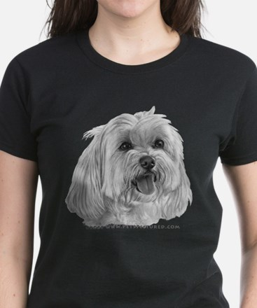 Sadie, Maltese Women's Dark T-Shirt