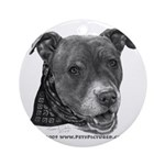 Roxy, Pit Bull Terrier Ornament (Round)