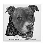Roxy, Pit Bull Terrier Tile Coaster