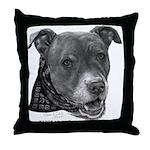 Roxy, Pit Bull Terrier Throw Pillow