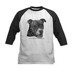 Roxy, Pit Bull Terrier Kids Baseball Jersey