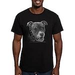 Roxy, Pit Bull Terrier Men's Fitted T-Shirt (dark)