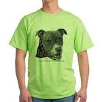 Roxy, Pit Bull Terrier Green T-Shirt
