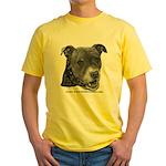 Roxy, Pit Bull Terrier Yellow T-Shirt
